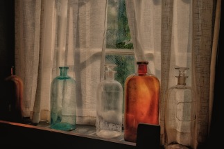 bottles in window X-T1 18-55 by bill fortney