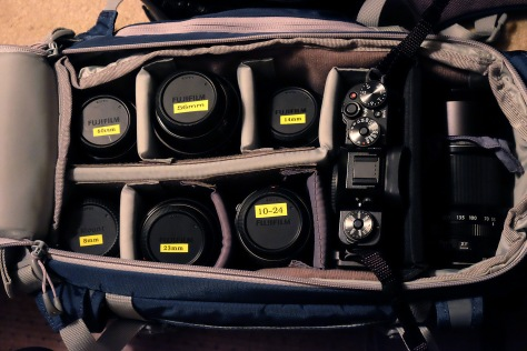 camera bag set up