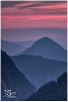 sunset in mt rainier national park by jack graham